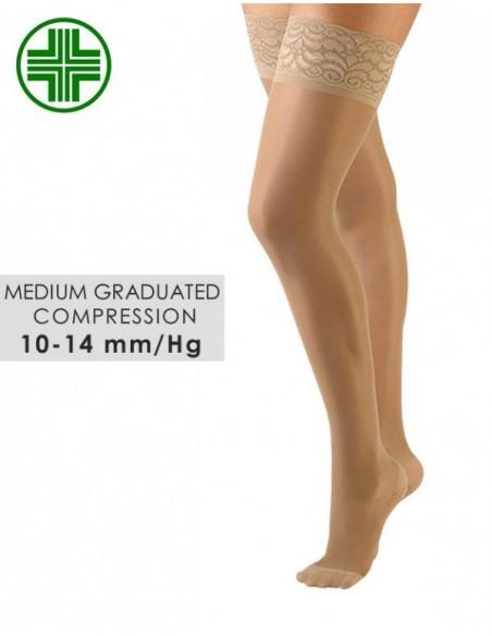 Kompresijske samostoječe nogavice 70 DEN