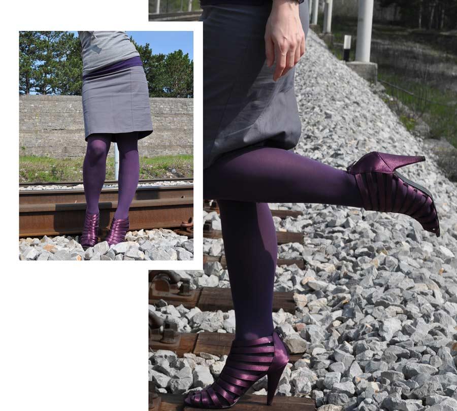 Nogavice naj se ujemajo z barvo čevljev.